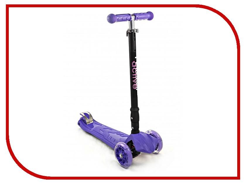 Самокат Triumf Active Maxi Flash Plus Purple складной