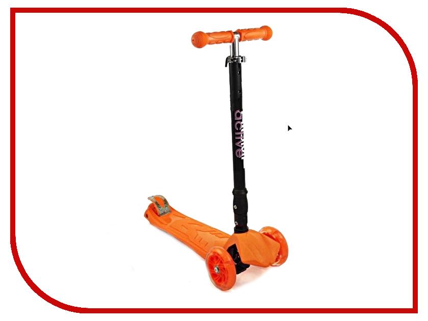 Самокат Triumf Active Maxi Flash Plus Orange складной