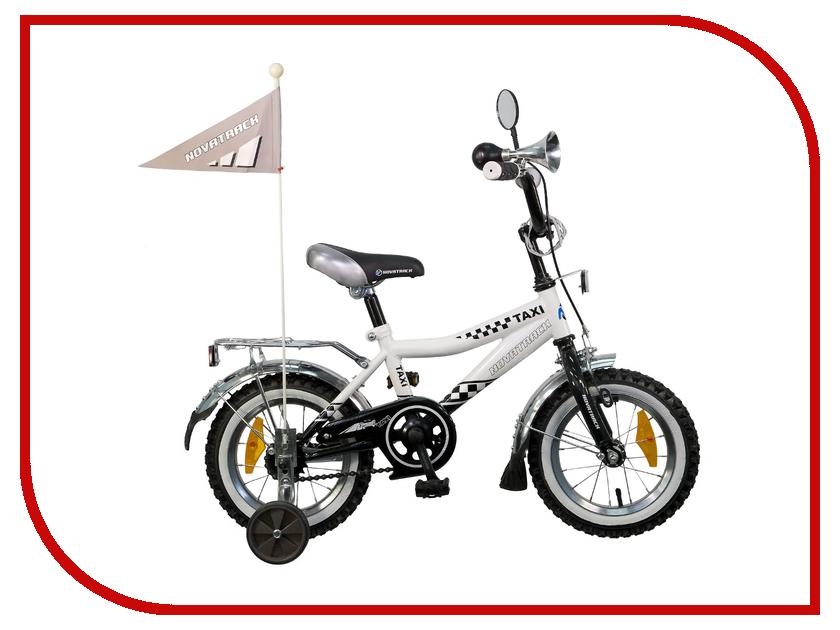 Велосипед Novatrack Taxi 12 2015 Black-White 127Taxi.wt5 детский велосипед novatrack х21010 taxi yellow