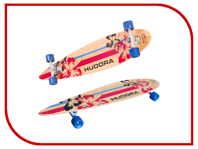 Скейт Hudora Longboard ABEC 7 hudora футбольные ворота foldable soccergoal hudora