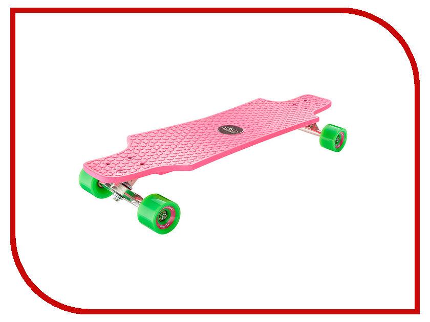 Скейт Hudora Longboard Fun Cruise Pink hudora футбольные ворота foldable soccergoal hudora