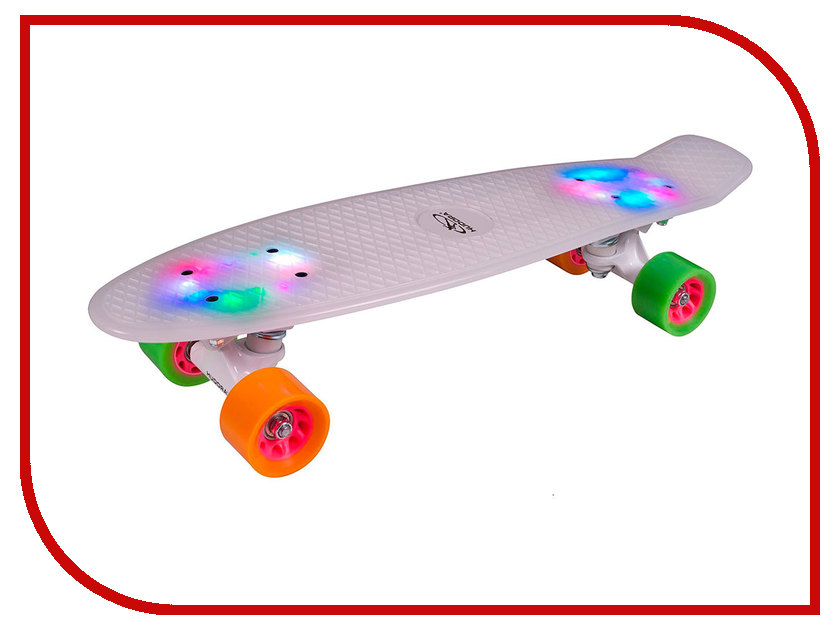 Скейт Hudora Skateboard Retro Rainglow White
