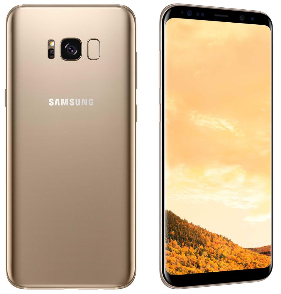 Сотовый телефон Samsung SM-G955FD Galaxy S8 Plus 64Gb Gold смартфон samsung galaxy s8 64gb sm g950f аметист