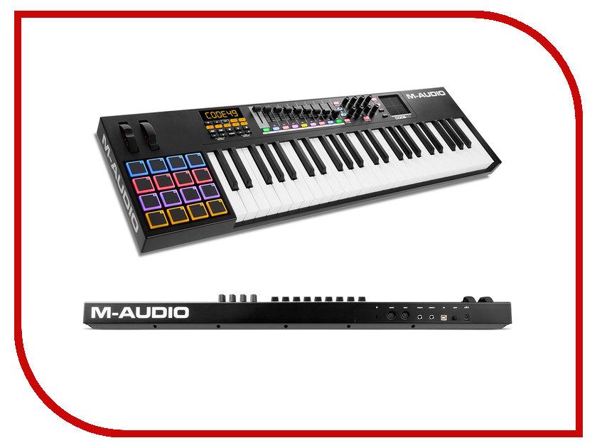 MIDI-клавиатура M-Audio Code 49 Black midi клавиатура 61 клавиша m audio code 61 black