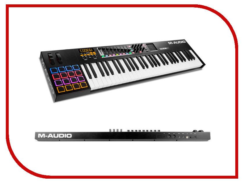 MIDI-клавиатура M-Audio Code 61 Black кордщетка атака 22383