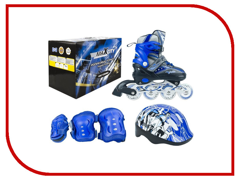Коньки Maxcity Volt Combo 35-38 Blue стоимость