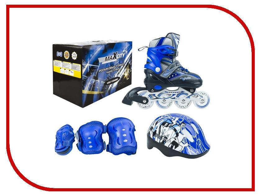 Коньки Maxcity Volt Combo 35-38 Blue детские ролики maxcity caribo combo