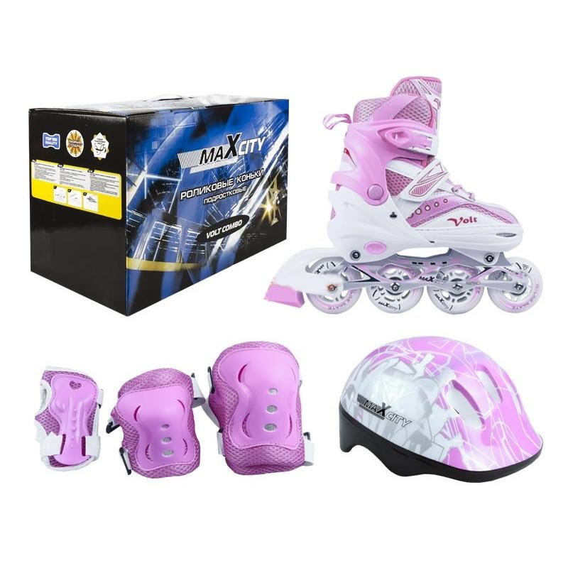 цена на Коньки Maxcity Volt Combo р.39-42 Pink