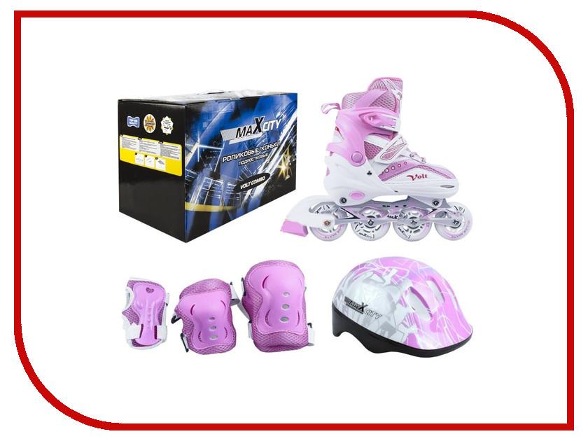 Коньки Maxcity Volt Combo 35-38 Pink детские ролики maxcity caribo combo