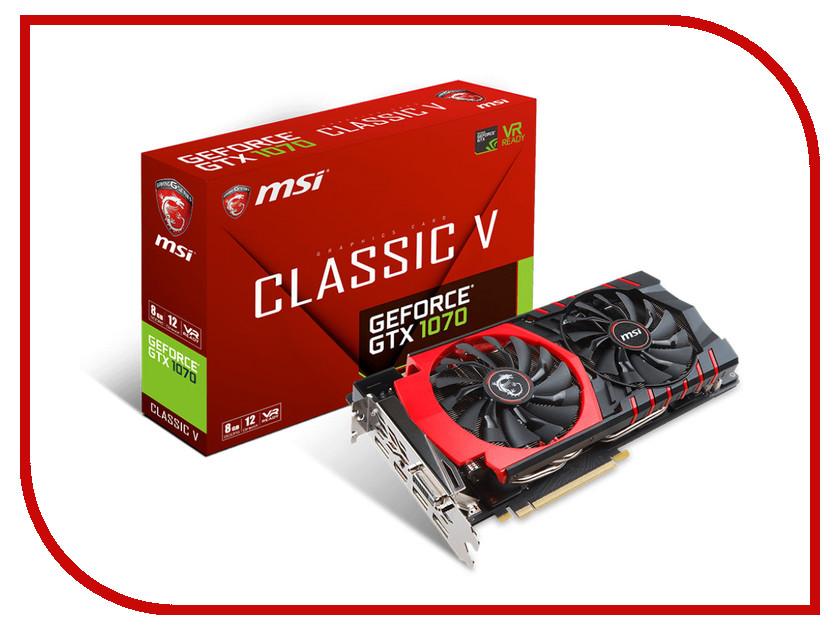 Видеокарта MSI GeForce GTX 1070 1607Mhz PCI-E 3.0 8192Mb 8108Mhz 256 bit DVI HDMI HDCP GTX 1070 Classic V