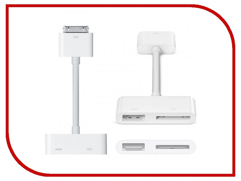 Аксессуар APPLE Digital AV Adapter 30-pin to HDMI MD098ZM/A<br>