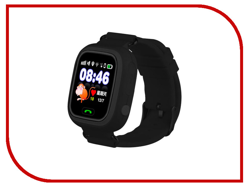 Smart Baby Watch Q80 Black no 1 d7 smart watch black