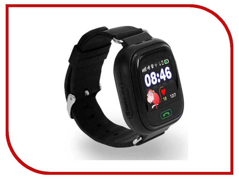 Smart Baby Watch Q90 Black z4 smart watch leather strap black