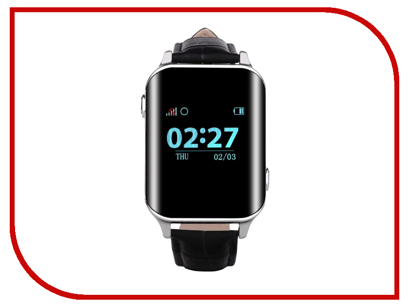 Smart Baby Watch D100 Silver-Black z4 smart watch leather strap black