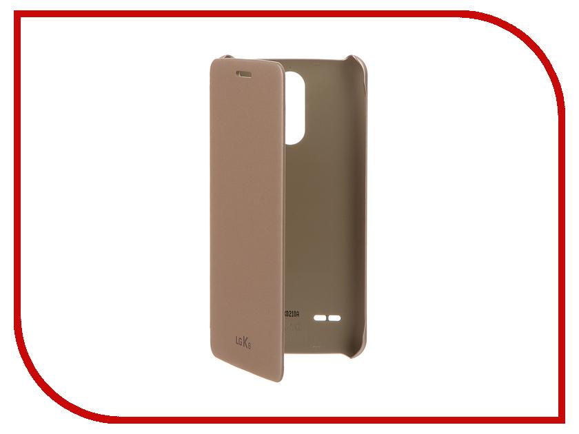 Аксессуар Чехол LG X240 K8 (2017) FlipCover Gold LG-CFV-280.AGRAGD чехол книжка lg cfv 280 для lg k8 2017 синий