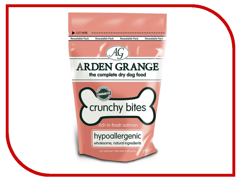 Лакомство Arden Grange с лососем 0.25kg для собак AG505017 ag605281 arden grange