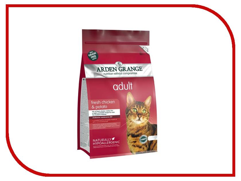 Корм Arden Grange с курицей и картофелем 0.4kg для взрослых кошек AG612234 ag605281 arden grange
