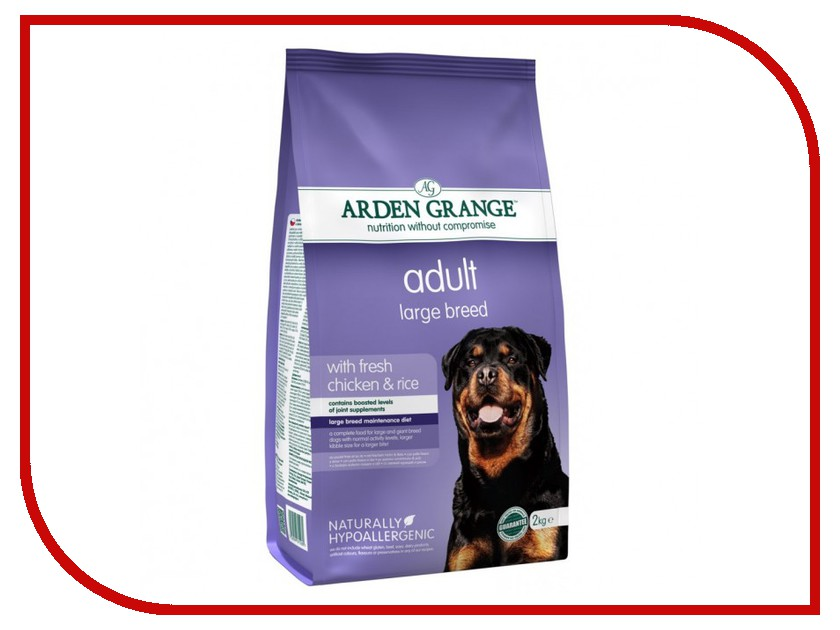 ag825016 arden grange Корм Arden Grange Adult Dog Large Breed 2kg для взрослых собак крупных пород AG615280