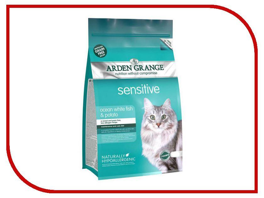 Корм Arden Grange Adult Cat Sensitive 0.4kg для взрослых кошек с деликатным желудком и чувствительной кожей AG618236 ag605281 arden grange