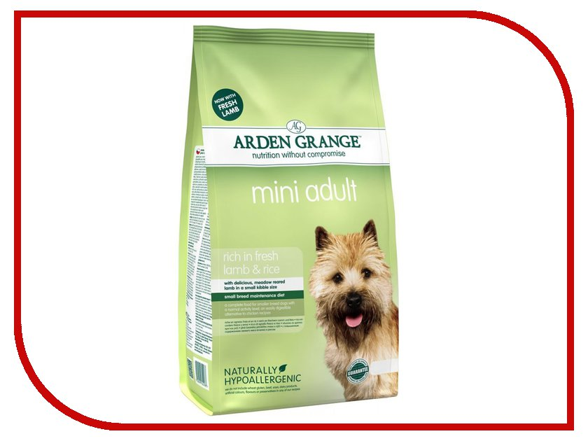 Корм Arden Grange с ягненком и рисом 2kg для взрослых собак мелких пород AG622288 ag605281 arden grange