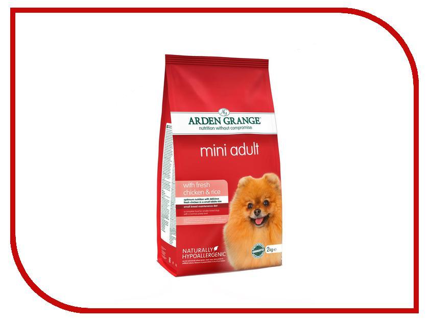 Корм Arden Grange с курицей и рисом Mini 2kg для взрослых собак мелких пород AG631280 ag605281 arden grange