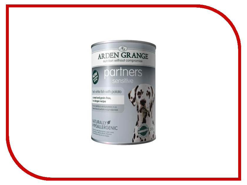 ag825016 arden grange Корм Arden Grange с белой рыбой и картофелем 0.395kg для собак AG825016