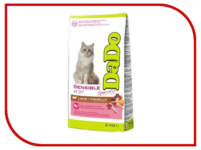Корм DaDo Ягненок с кукурузой и рисом 2kg для кошек с чувствительным желудком DDN761028 mibb dado ciliegio вишня li030dci