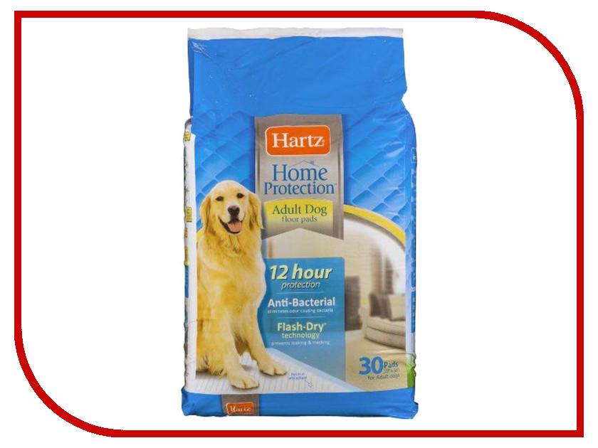 Пеленки Hartz Floor Pads Antib Floor Pads Antibacterial adult size for dogs 58x76 30шт H11447