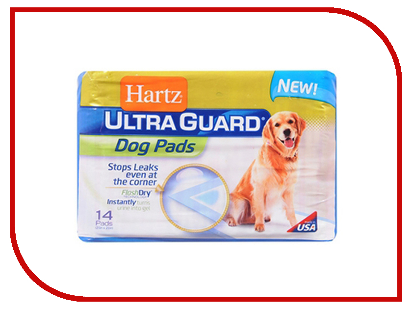 Пеленки Hartz Training Pads Home Protection Ultra for dogs & puppies 54x54 14шт H13088