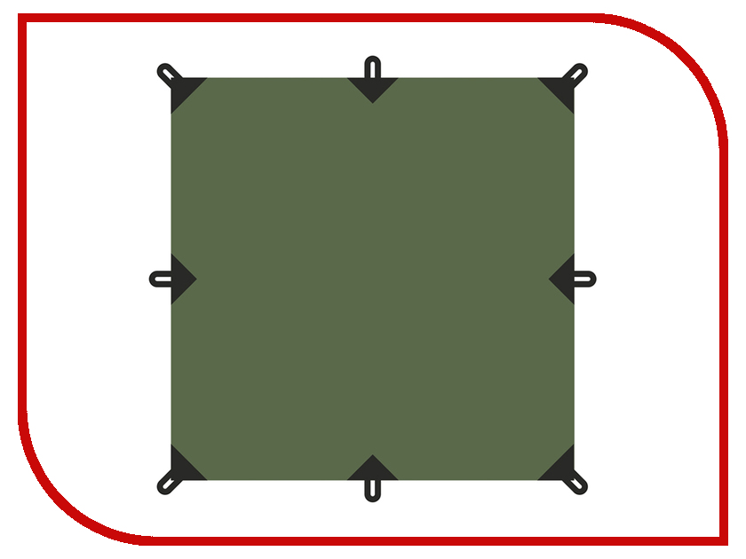 Тент Talberg Tent 4x4m Green
