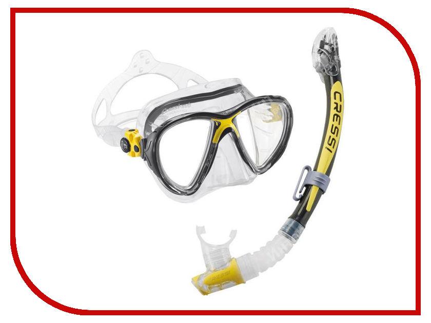 Аксессуар Cressi Набор маска Big Eyes Evolution + трубка Kappa Ultra Dry Yellow DS337010