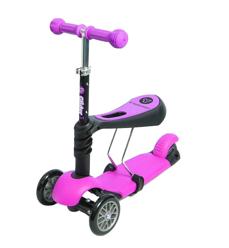 Самокат Y-Bike Glider Seat Pink цена