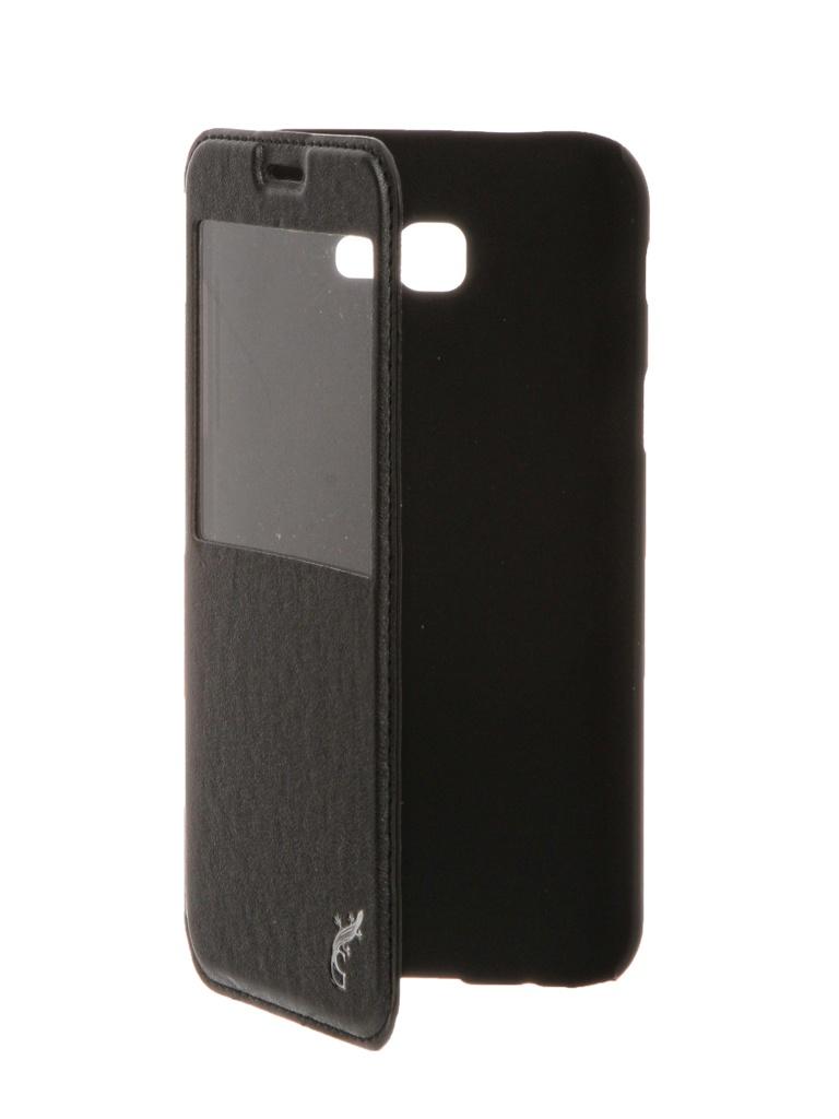 Аксессуар Чехол G-Case Slim Premium для Samsung Galaxy A7 2017 SM-A720F Black GG-797 g case slim premium чехол для samsung galaxy a3 2017 sm a320f black
