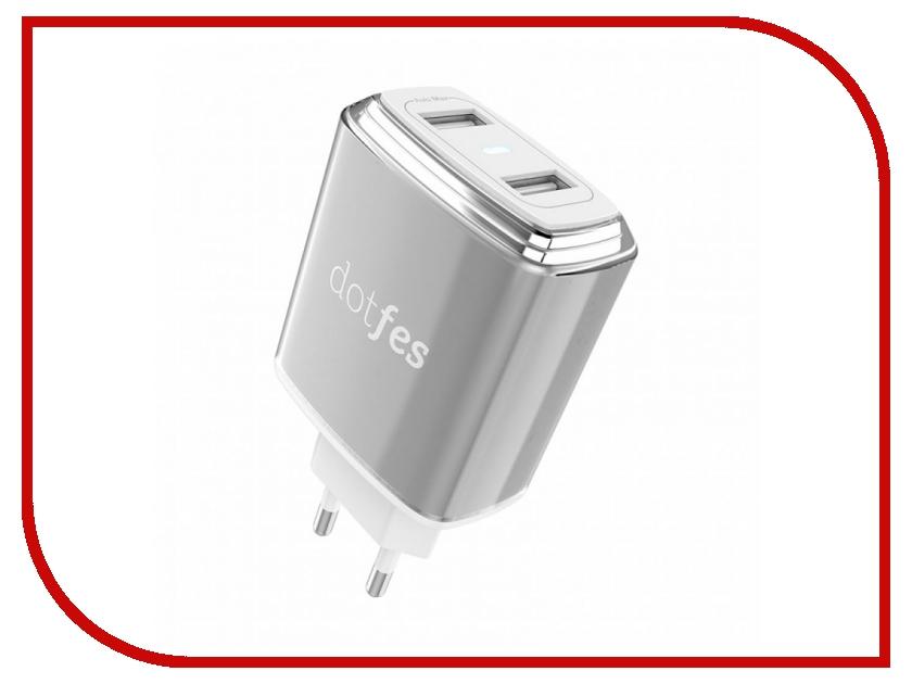 Зарядное устройство Dotfes C01 2xUSB 3.4A Tarnish зарядное устройство dotfes b03s 2xusb 4 8a lightning gold 03179
