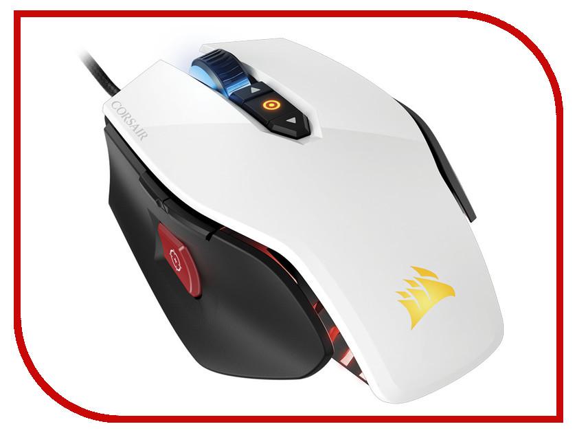 Мышь Corsair M65 PRO RGB White USB CH-9300111-EU мышь проводная corsair gaming scimitar pro rgb ch 9304111 eu чёрный usb