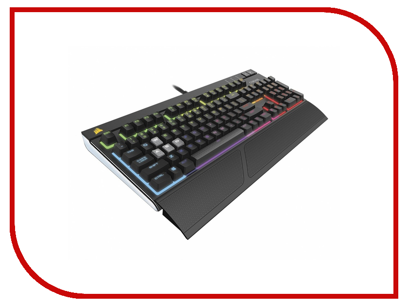 Клавиатура Corsair Strafe RGB Red CH-9000227-RU клавиатура corsair strafe rgb cherry mx red black usb ch 9000227 ru