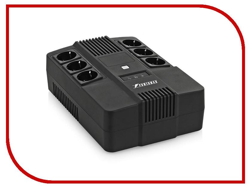 Источник бесперебойного питания PowerMan Brick 800 источник бесперебойного питания crown cmu sp800iec black