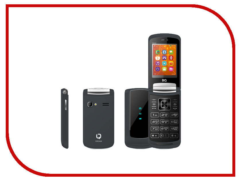 Сотовый телефон BQ 2405 Dream Black мобильный телефон bq mobile bq bq 2405 dream красный