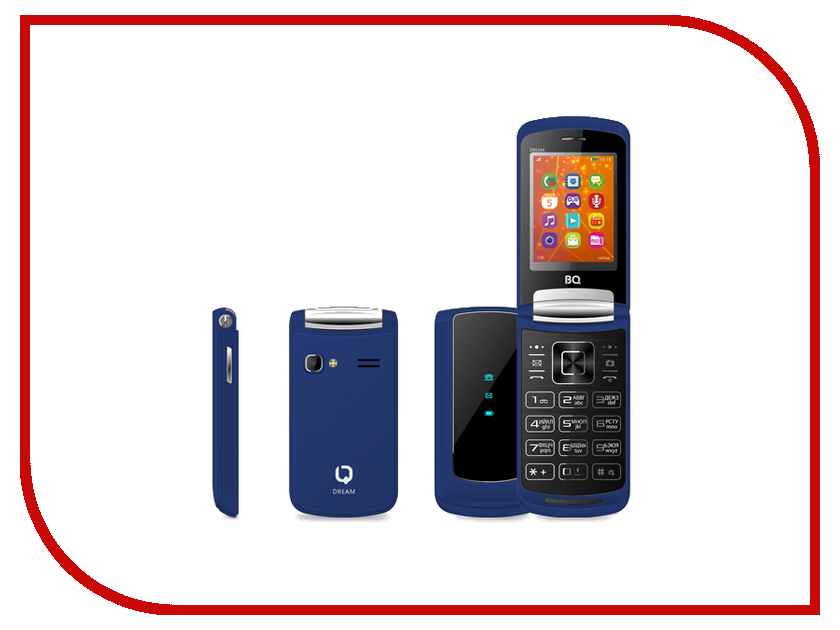 Сотовый телефон BQ 2405 Dream Dark Blue bq телефон bq 2405 dream