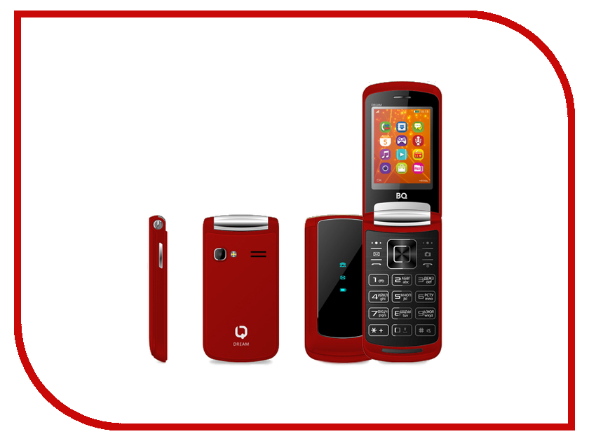 Сотовый телефон BQ 2405 Dream Red bq телефон bq 2405 dream