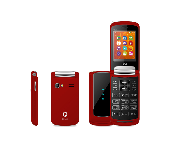 Сотовый телефон BQ 2405 Dream Red цена и фото