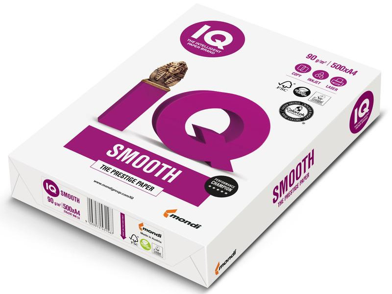Бумага IQ Selection Smooth А4 100g/m2 500л A+