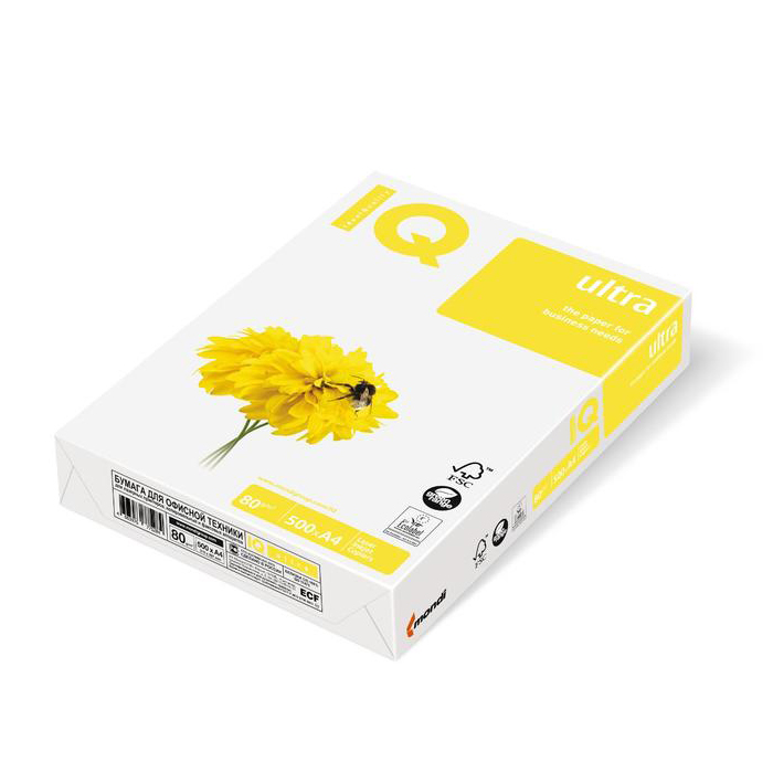 Бумага IQ Ultra A4 80g/m2 500л A+