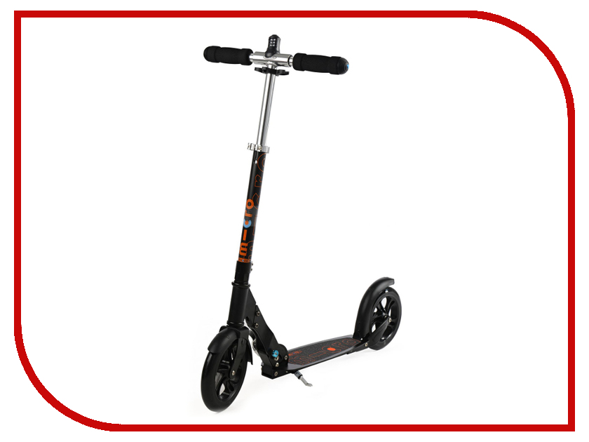 Самокат Micro Scooter Black SA0117 micro scooter sprite красный sa0025