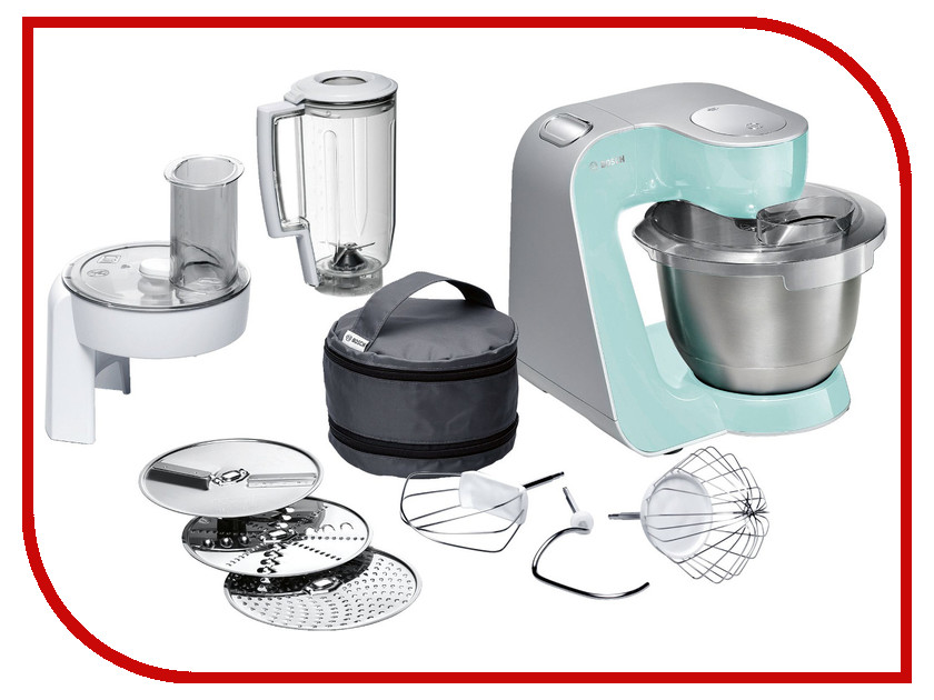 Комбайн Bosch MUM 58020 Mint-Silver цена
