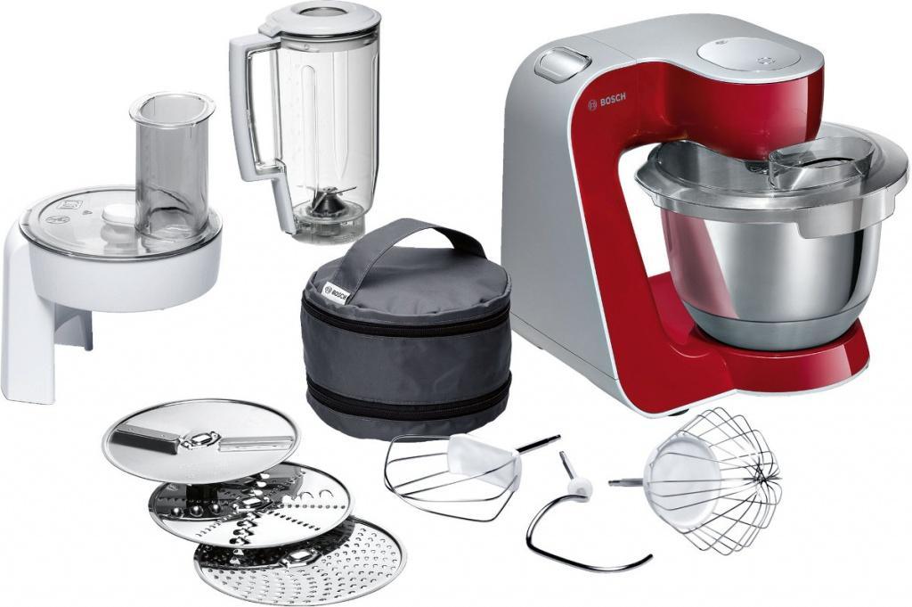 Комбайн Bosch MUM 58720 Red-Silver цена