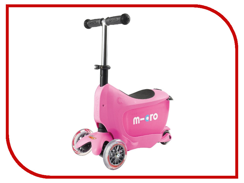 Самокат Micro Mini 2go Deluxe Pink MMD029