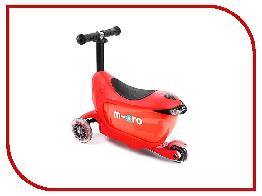 Самокат Micro Mini 2go Deluxe Red MMD018 самокат micro mini2go deluxe розовый
