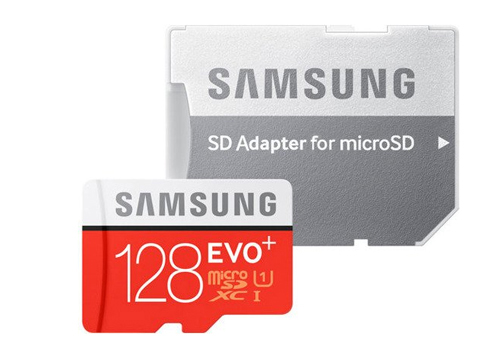 Карта памяти 128Gb - Samsung - Micro Secure Digital HC EVO Plus UHS-I Class 10 SAM-MB-MC128GARU с переходником под SD карта памяти 512gb samsung evo plus v2 micro secure digital hc mb mc512garu с переходником под sd