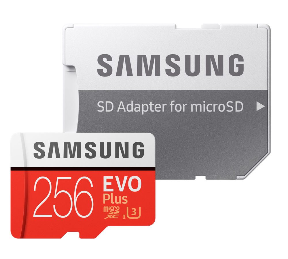 Карта памяти 256Gb - Samsung - Micro Secure Digital HC EVO Plus UHS-I Class 10 SAM-MB-MC256GARU с переходником под SD карта памяти 512gb samsung evo plus v2 micro secure digital hc mb mc512garu с переходником под sd